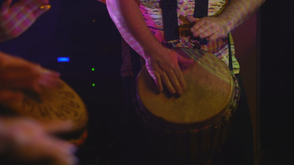 Download Drummers Perform On The Stage nulled download
