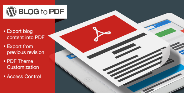 WordPress Blog to PDF Plugin - CodeCanyon Item for Sale