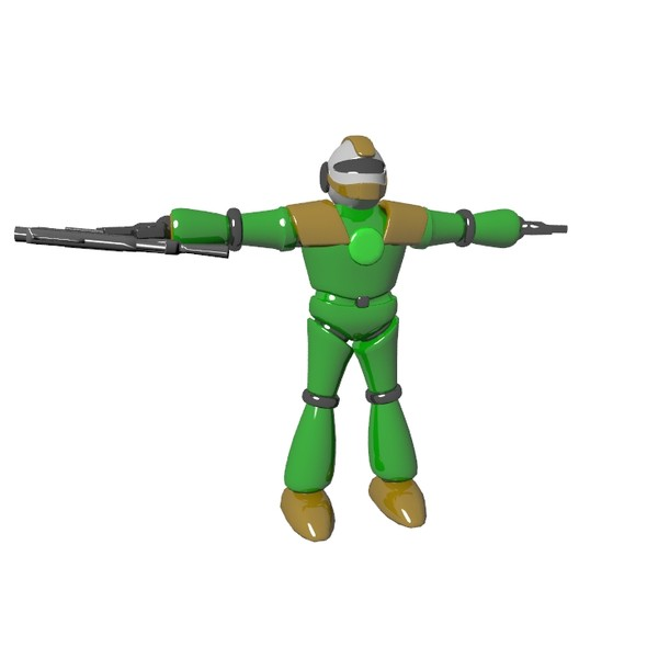 Green robot - 3DOcean Item for Sale