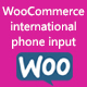 WooCommerce international phone input