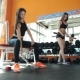 Two Young Sporty Woman In The Gym Centre 20S. 1080p