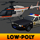 Police Car & Helicopter
