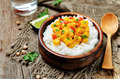 pumpkin chickpea curry with rice