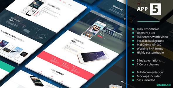 Download App5 - App Landing Page nulled download