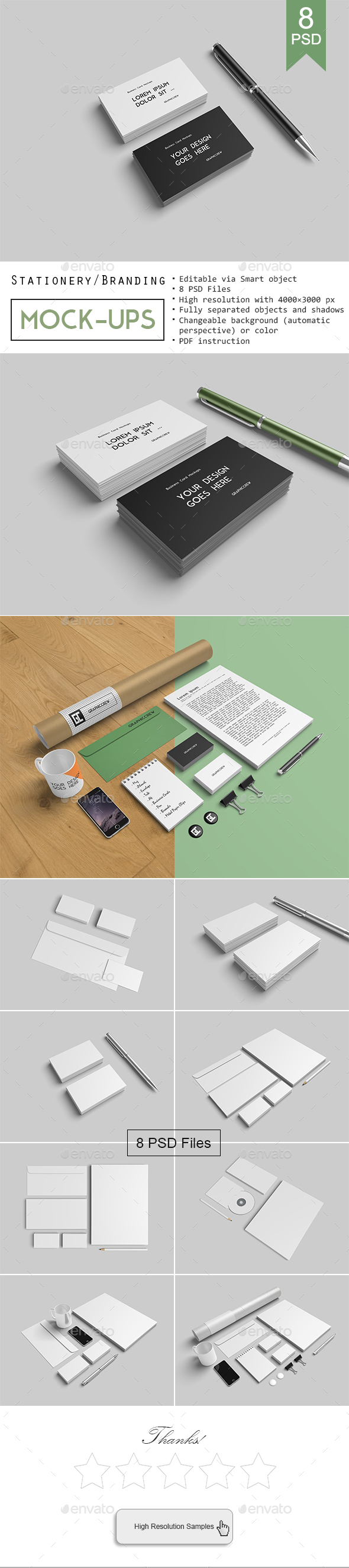 5 Realistic Mockup Billboard the Streets (Stationery)