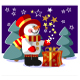 Snowman  with gift in color 05 - GraphicRiver Item for Sale
