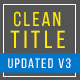 Clean Titles Updated