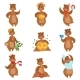 Brown Bear Different Activities Set