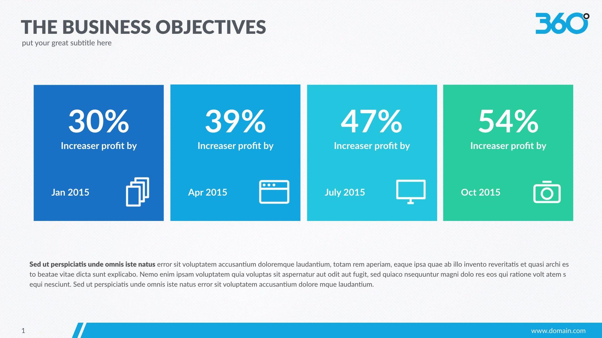 360 Business Plan Keynote Template by slidegully