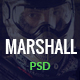 Marshall - Paintball Club PSD Template