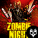 Zombie Night Flyer Template PSD