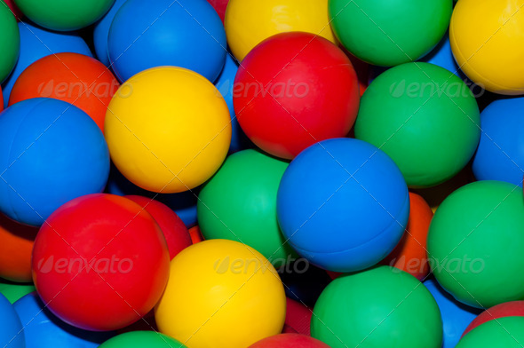 colorful plastic balls background - Stock Photo - Images