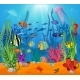Sea Life Animals and Plants Composition