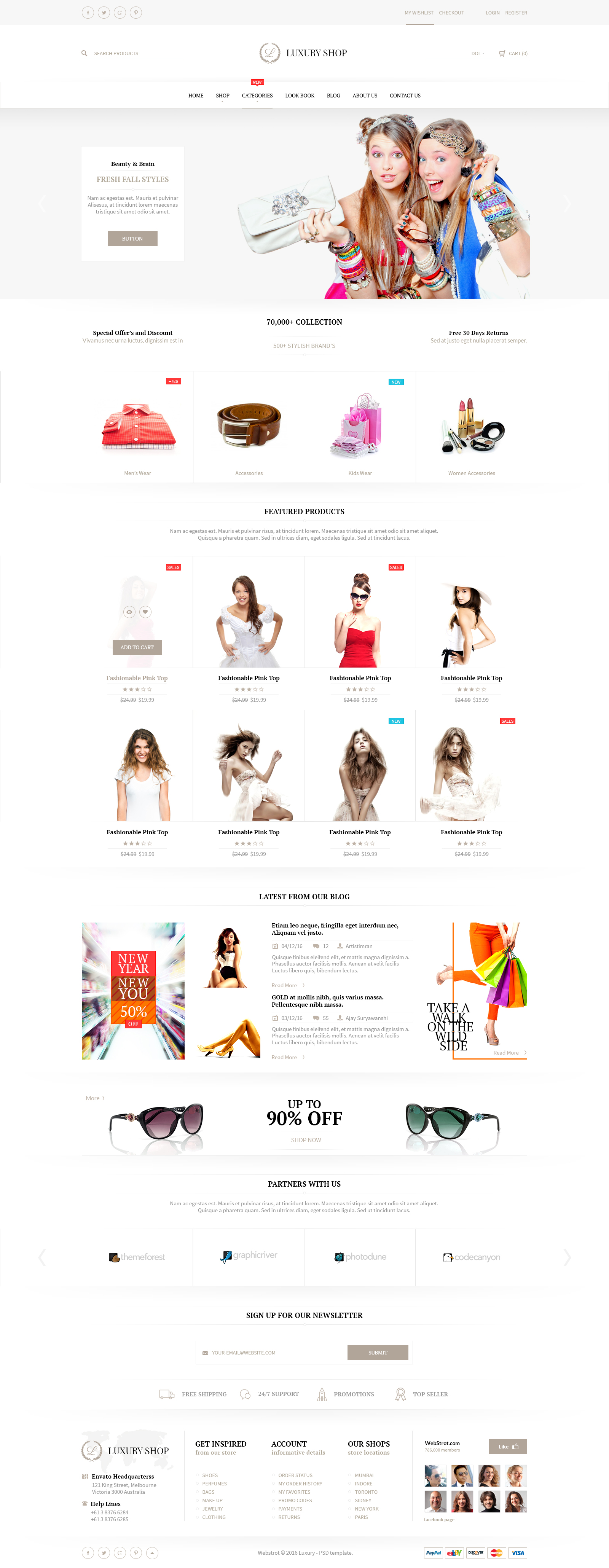 Luxury Shop eCommerce PSD Template