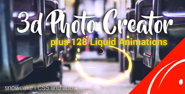 3d Photo Creator With Liquid FX -Videohive中文最全的AE After Effects素材分享平台