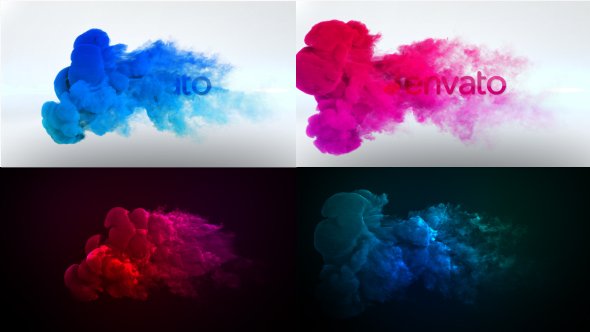 Color Smoke Logo Reveal (Abstract) After Effects Templates