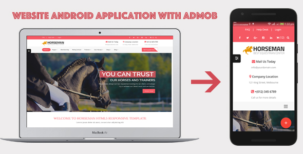WebSite Android Application with AdMob
