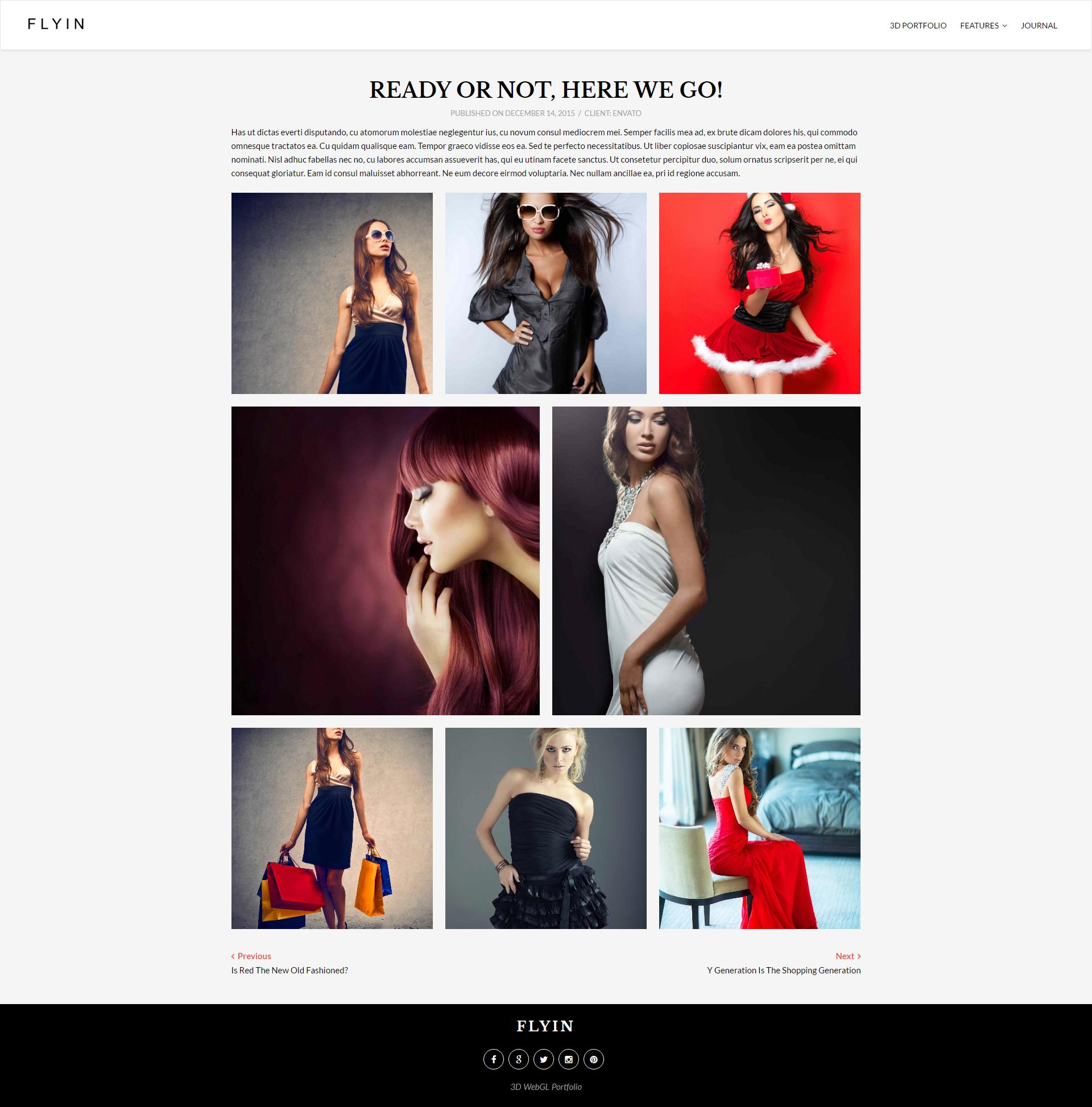 FLYIN - 3D Creative Portfolio Theme