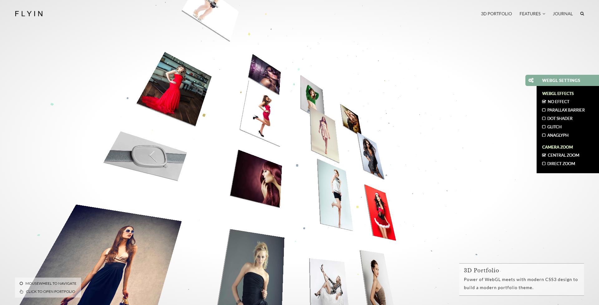 FLYIN - 3D Creative Portfolio Theme - 1