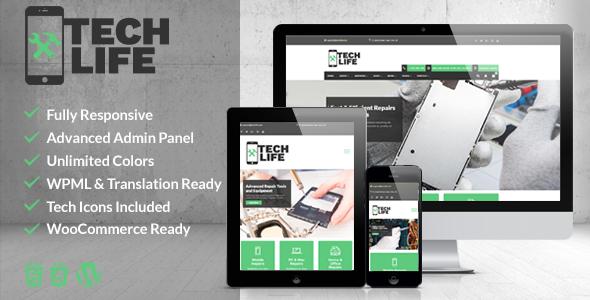 TechLife – Mobile, Tecnología & Tema de WordPress de tienda de ...