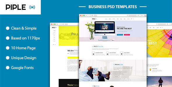 Piple-wifi - Business and multipurpose PSD Template