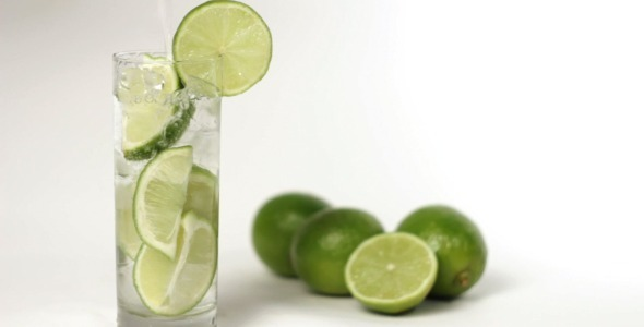 Water With Lime And Ice