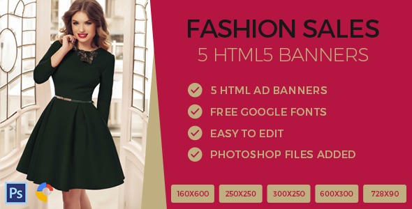 Fashion Sales Ads Banner HTML5 - GWD