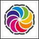 Color Fan Logo Template