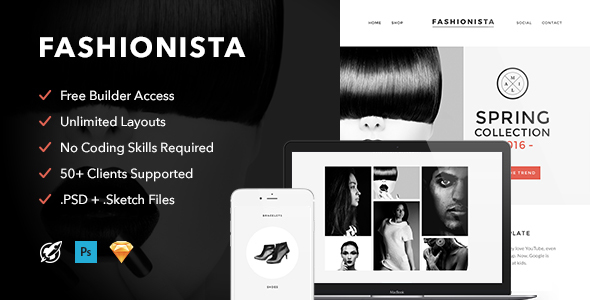 Image of Fashionista - Responsive Email + Themebuilder Access