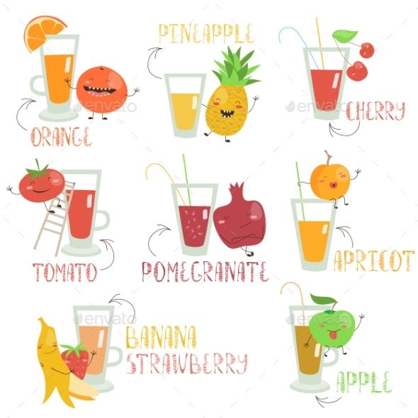 Fruits Juices Set