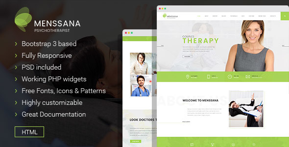 Menssana - Psychologist and Psychotherapist HTML Template