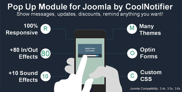 CoolNotifier PopUp Module for Joomla