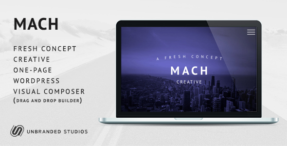 MACH - Fresh Concept One Page Creative WordPress Theme