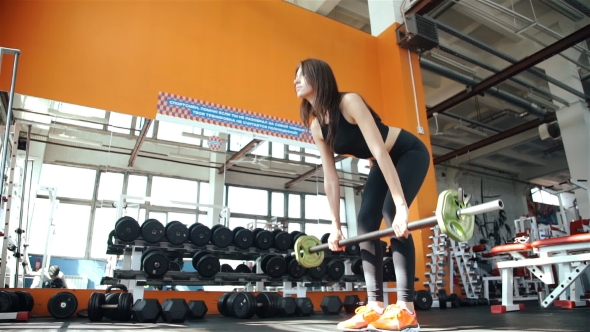 Download Young Woman Doing Exercises On Training Apparatus In Gym nulled download
