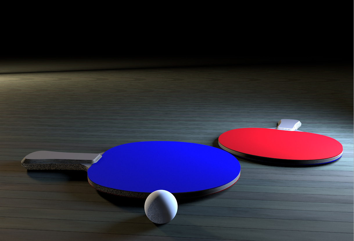 ping pong paddle by myrrdin01 3docean. Black Bedroom Furniture Sets. Home Design Ideas