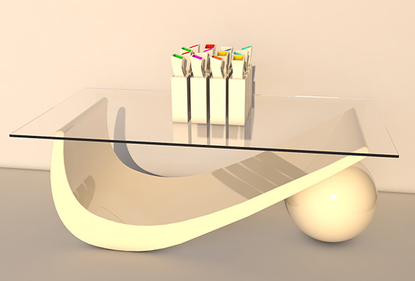 table modern wth vase - 3DOcean Item for Sale