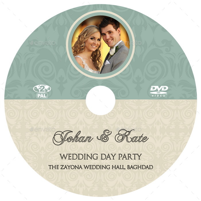 wedding dvd cover and dvd label template vol 8 by owpictures graphicriver. Black Bedroom Furniture Sets. Home Design Ideas