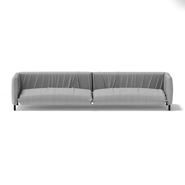 3DOcean Large Grey Sofa 17756764