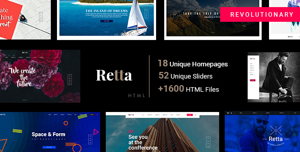 Retta - Multiuse Business HTML5 Mega Pack