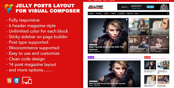 Jelly Posts Layout for Visual Composer
