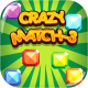 Crazy Match3 - HTML5 Game + Android + AdMob (Capx)