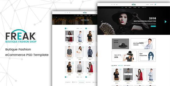 Freak - Boutique eCommerce PSD template