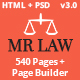 MrLaw - Insurance and Lawyer Business Template