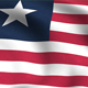 Liberia Flag Background