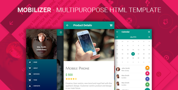 Mobilizer - Multi Purpose Responsive HTML Mobile & Tablet