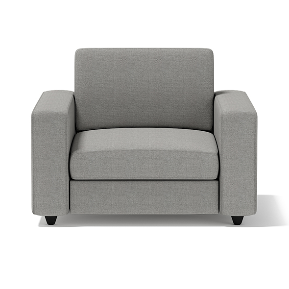 Grey Armchair - 3DOcean Item for Sale