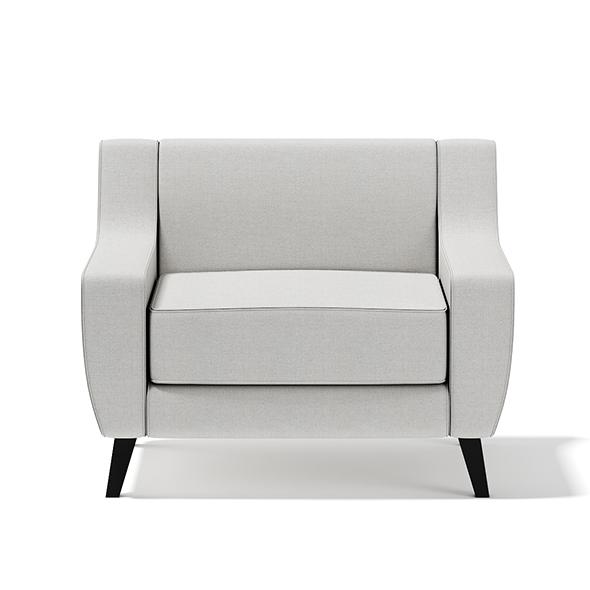 Light-Grey Armchair - 3DOcean Item for Sale
