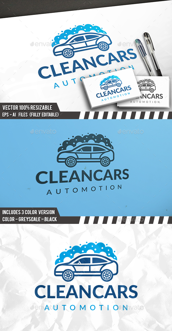 Car Cleaning Logo