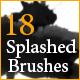 18 Color Splashed Brushes