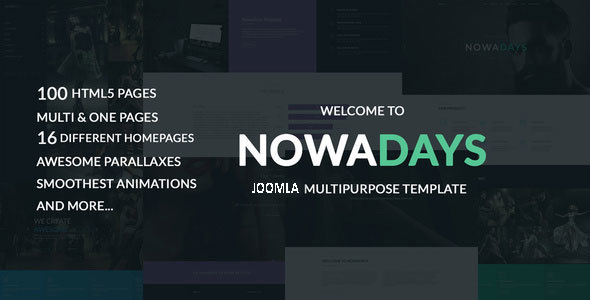 NowaDays - Multipurpose One/Multipage Creative Agency Joomla Theme